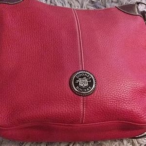 Used ladies Dooney Dourke purse red leather
